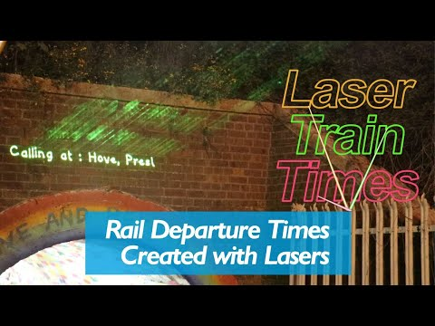 Rail Departure Times Created With Lasers