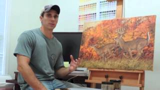 """""""Rolling Right Along"""" - White-tailed Deer Painting Video"""