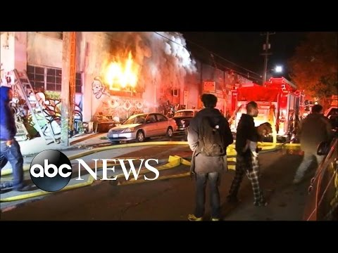 Fire Erupts During Party at Oakland Warehouse, Killing at Least 9