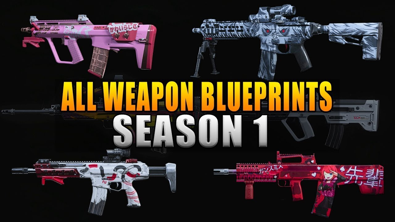 Modern Warfare All New Weapon Blueprints In Season 1 Youtube