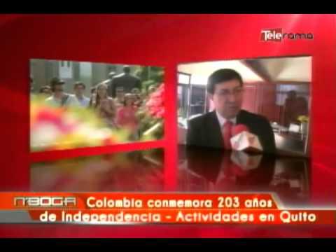 Colombia conmemora 203 años de independencia - Actividades en Quito