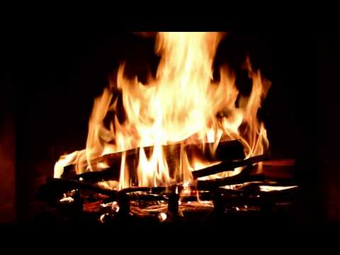 Virtual Fireplace with Crackling Fire Sounds (Full HD)