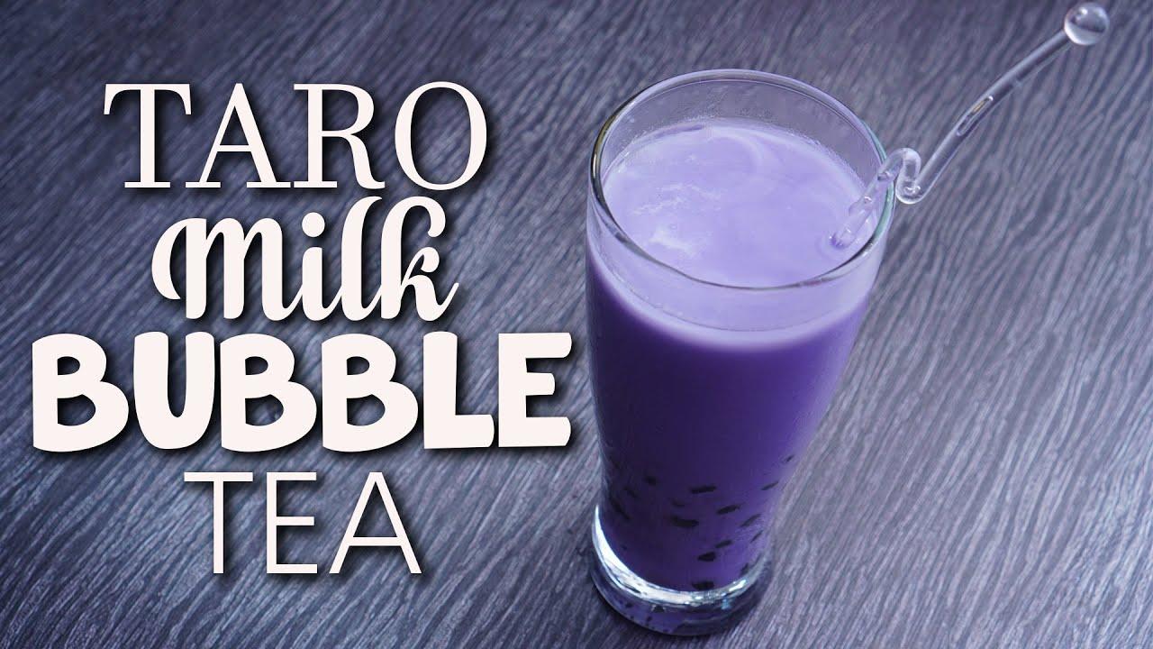 Cara Mudah Membuat TARO Milk Bubble Tea | Bisa Untuk ...