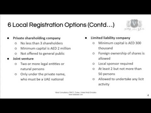 Company Incorporation In Dubai | 6 Local Company Types To Choose From