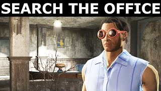 Fallout 4 Nuka World - Search The Office & Find The Hidden Button -