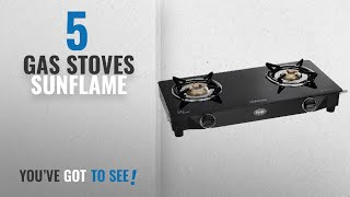 Top 10 Gas Stoves Sunflame [2018]: Sunflame GT Pride 2 Burner Gas Stove, Black