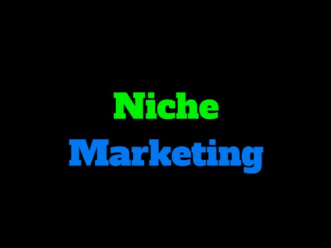 "*Niche Marketing* and ""Determining the Perfect Niche for You"""