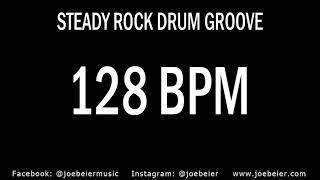 128 BPM - Rock Drum Beat - Backing Track - Practice Tool