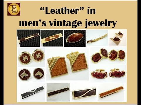 A Look at Leather in Men's Vintage Jewelry