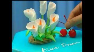 Мастер класс, украшение торта  (A master class in buttercream cake decorating)