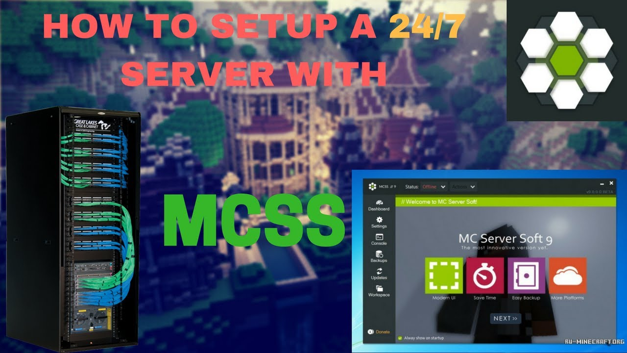 minecraft how to run a server 24 7