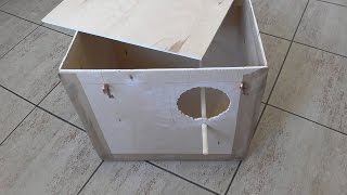 Дуплянка, или домик - гнездо для попугаев Нимфа - Корелла.