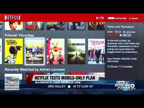 Netflix testing mobile only plan Mp3