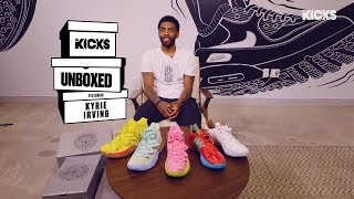 B/R Kicks Unboxed w/ Kyrie Irving: 5 colorways of the SpongeBob x Nike Kyrie Pack