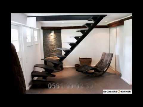 soudeur design escalier pour les petit espaces limon central escalier youtube. Black Bedroom Furniture Sets. Home Design Ideas