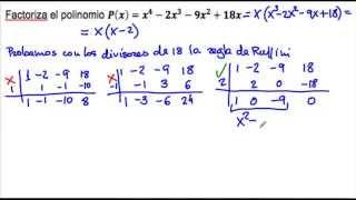 Factorización de un polinomio sin término independiente