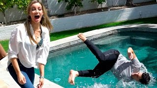 PUSHED IN THE POOL PRANK!!!!