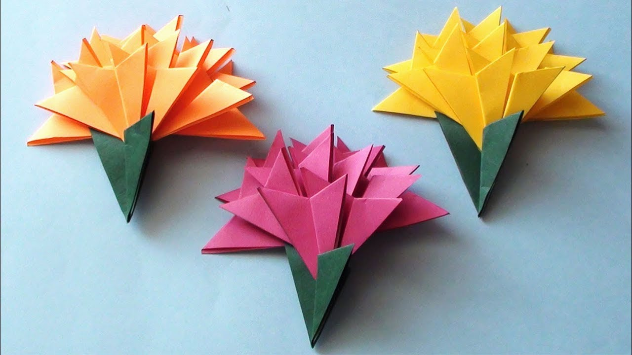 How To Make A Paper Flowers Tutorial Youtube