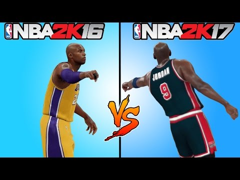 NBA 2K17 vs NBA 2K16 GAMEPLAY TRAILER 🏀