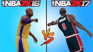 NBA 2K17 vs NBA 2K16 GAMEPLAY TRAILER 🏀