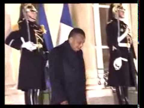 President of The Republic of the Congo Denis Sassou Nguesso visits Paris