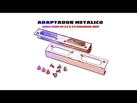 Video de Adaptador metalico disco duro de  3.5 a 2.5 pulgadas  Gris