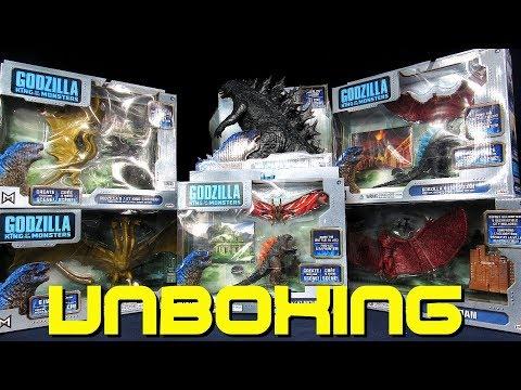 Jakks Pacific Godzilla King Of The Monsters Toy Haul - Godzilla Rodan Mothra King Ghidorah Unboxing