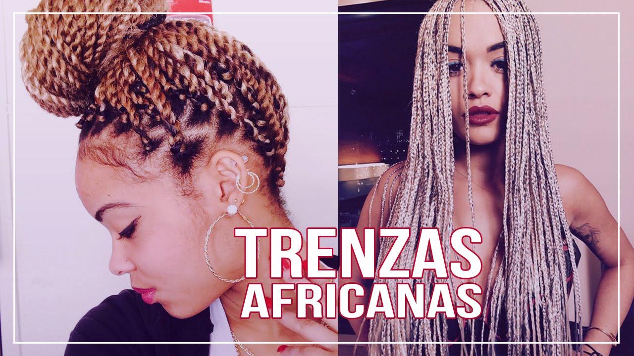 Trenzas Africanas Peinados Tendencias Mujer Estilo Urbano