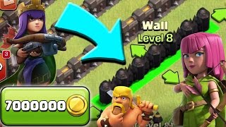 Clash of Clans: TH10 FARMING!  3rd Army Camp + 7 Million Gold in Walls!