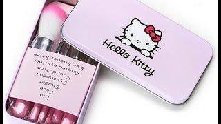 Review Bộ Cọ Trang Điểm Hello Kitty 7 Món
