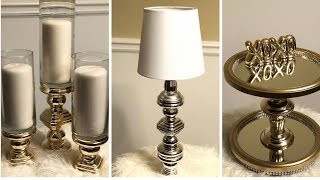 Dollar Tree DIY || Beautiful Metallic Gold/Silver Home Decor