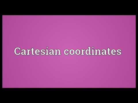 Header of cartesian coordinates