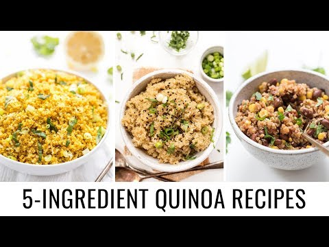 Easy 5 INGREDIENT Quinoa Recipes 👋🏻 vegan & gluten-free