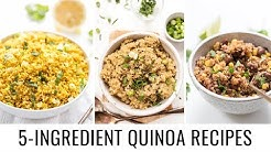 Easy 5 INGREDIENT Quinoa Recipes 👋🏻 vegan & gluten-free