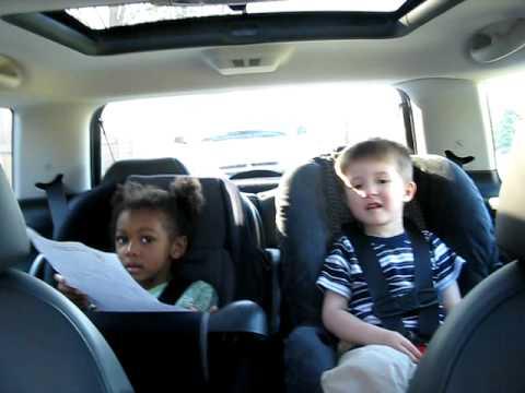 Half Filipino Toddler His Friend Car Seat Dance In The Mini Cooper S
