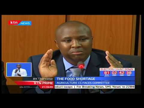 Agriculture CS Franklin Bett admits that the current food shortage in Kenya was artificially made