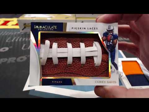 2017 Panini Immaculate Collection Football 6 Box Case Break #3 - Live From LA!
