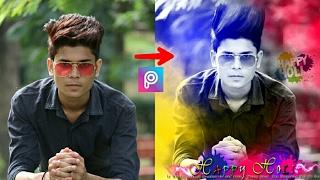 Happy Holi Colorfull Pic editing tutorial video || Picsart editing Tutorial