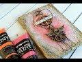 canvas impasto and rust