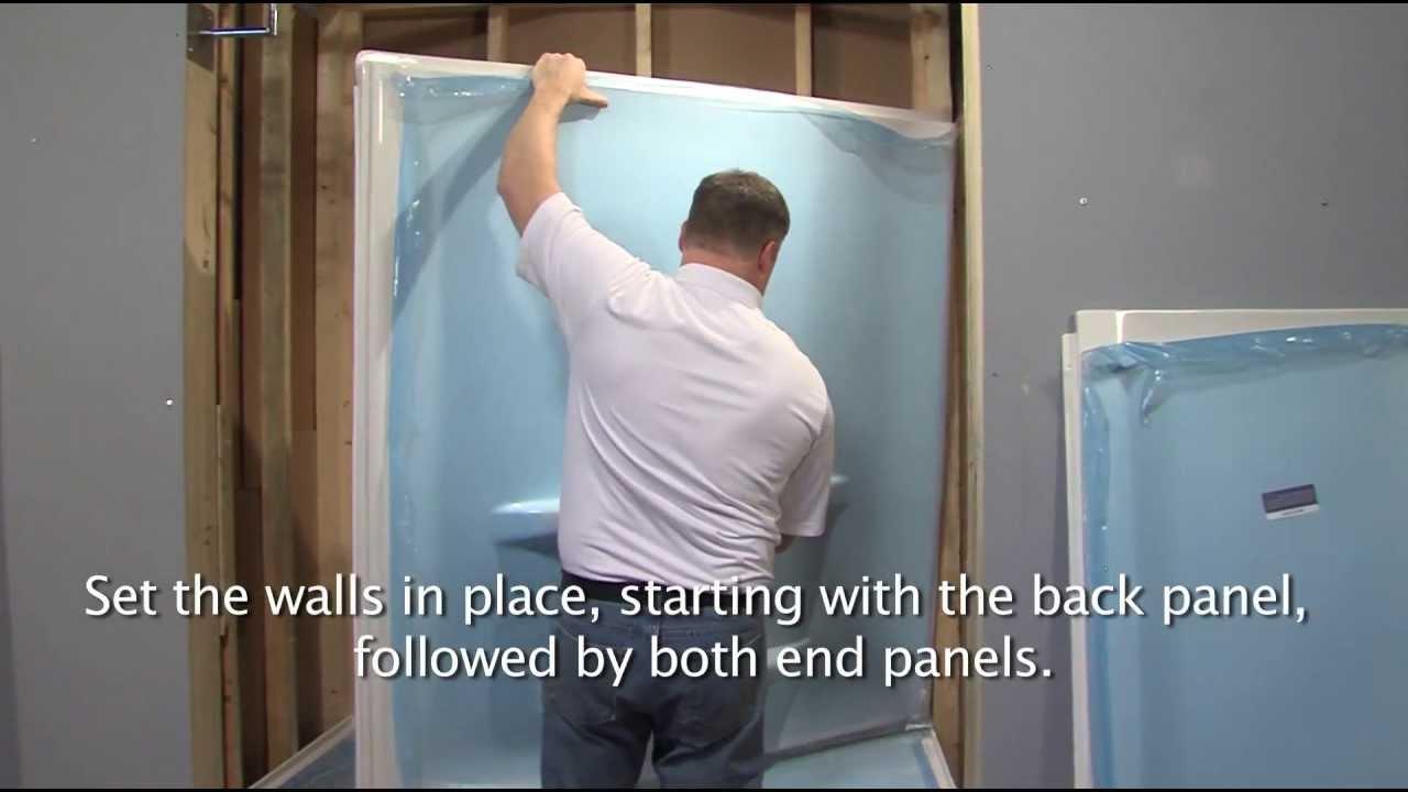 Lyons Shower Base Install 0509-13 - YouTube