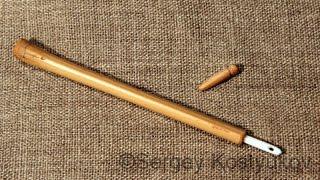 Игольник из бамбука для костяной иглы