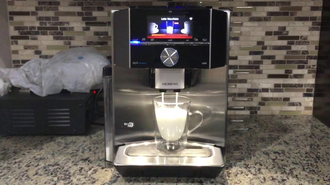 Latte Macchiato Using Siemens Ti909701hc Eq 9 S900 Youtube