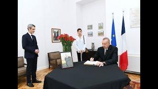 Президент и первая леди посетили посольство Французской Республики в нашей стране