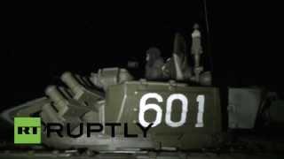 Las fuerzas armadas rusas ponen a prueba su armamento en ejercicios nocturnos
