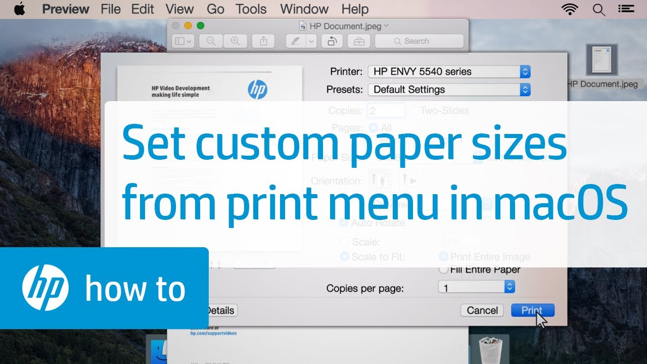 Custom paper size not showing in printer