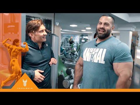 ЭВАН ЦЕНТОПАНИ - Тренировка плеч с Дмитрием Яшанькиным в X-FIT чистые пруды