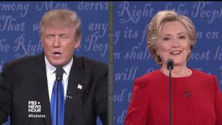 Trump deflects question about Clinton