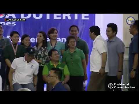Duterte at awarding of housing units at Tagum City