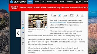 In The News - Coconut Oil Not A Health Food!