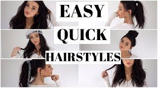 easy effortless hairstyles natural curls sleek hair beach waves